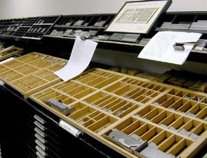 Type Drawer at the Havilah Press